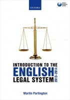 Martin Partington: An Introduction to the English Legal System 2013-2014