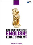 Martin Partington: An Introduction to the English Legal System 2014-2015