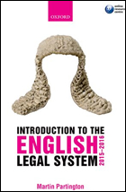 Martin Partington: An Introduction to the English Legal System 2015-2016