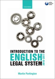 Martin Partington: An Introduction to the English Legal System 2016-2017