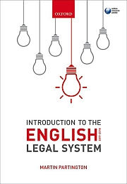 Martin Partington: An Introduction to the English Legal System 2017-2018