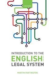Martin Partington: An Introduction to the English Legal System 2018-2019