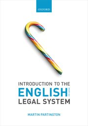 Martin Partington: Introduction to the English Legal System 15th ed 2021